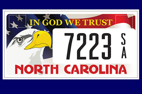 (You need your vehicle registration card and a credit card to order the plate.) 1. Click on the NC DMV ...
